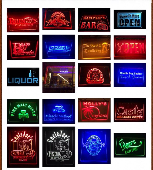 i1065 On Air LED Neon Light Sign On/Off Switch 7 Colors 4 Sizes