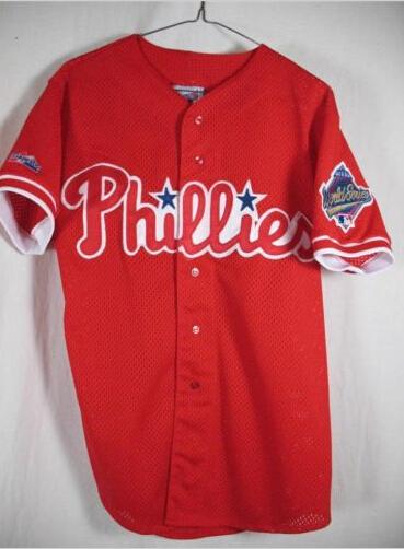 Philadelphia Phillies Jersey, VET 1993 World Series Philadelphia Phillies Retro Jersey, Men's Stitched Throwback Baseball Jersey