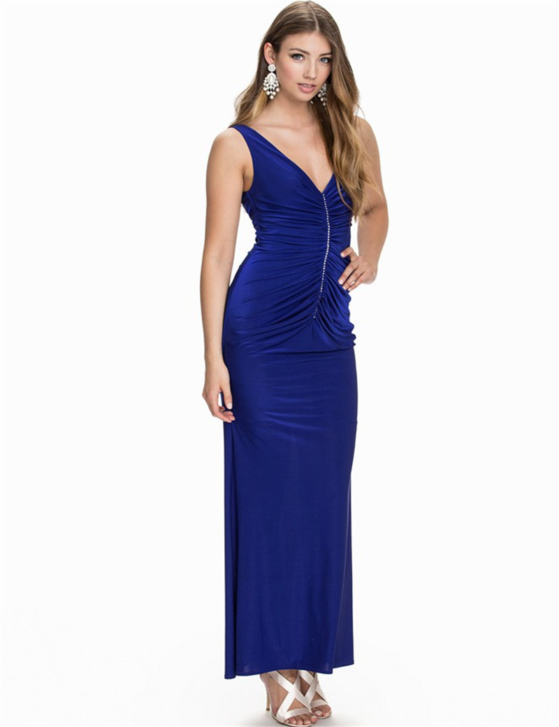 RYC80070 Top quality party dresses long sexy V neck women dress evening elegant sexy dress club wear 2016 hot maxi dress summer(China (Mainland))