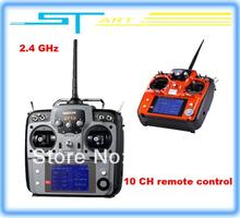 2.4G 10ch system rc radio Transmitter & Receiver Combo 10ch remtoe control R10D TX + RX New Goods 2013 AT10 gift Drop S toy gift