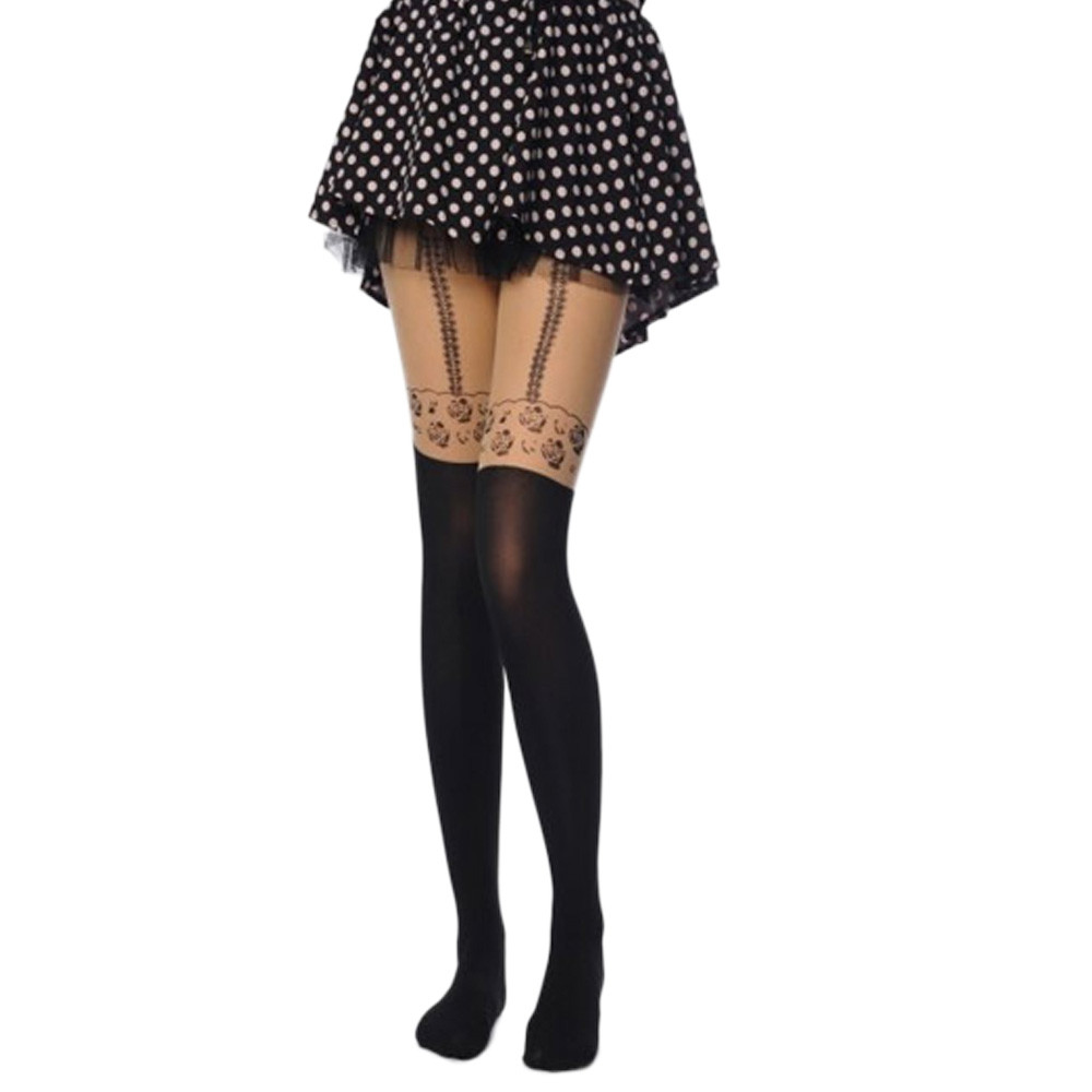 women stockings rose flower printed tights pantyhose medias sexy patterned tights the unique design let you more charming #632(China (Mainland))