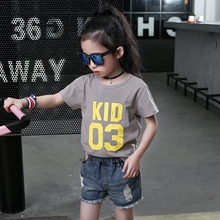 Buy 3 4 5 6 7 8 9 10 11 12 Years T Shirt Baby Girl Summer Wear Short Sleeve Letter T-shirt 2017 School Uniform Kids Clothes for $14.30 in AliExpress store