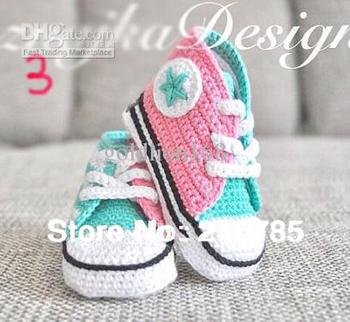 Free shipping, Crochet baby handmade Sports shoes knit ...