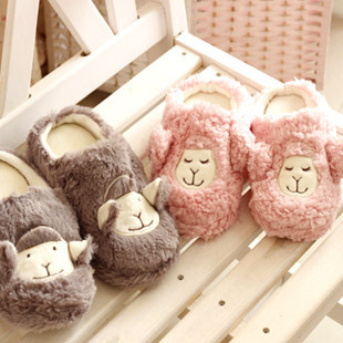At home sleep sheep alpaca slip-resistant massage floor lovers slippers home shoes cotton-padded slippers free shipping