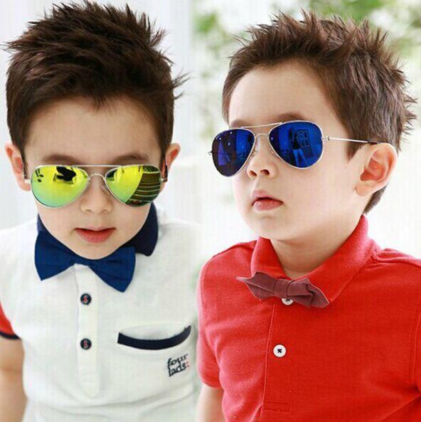 2016 марка дизайнер солнцезащитные очки для детей охладить зеркало светоотражающие металлический каркас детские солнцезащитные очки детских очков UV400 Sg121