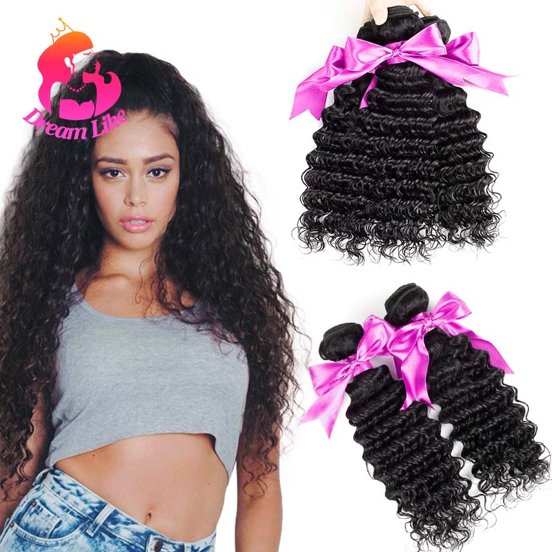 Hot Sale Deep Wave Malaysian Virgin Hair 4 Pcs 10A Unprocessed Malaysian Curly Hair Weave Sale Malaysian Deep Curly Virgin Hair