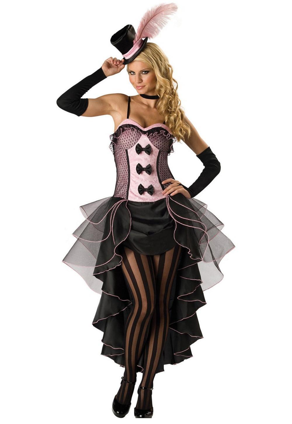Sexy Halloween costumes Sexy Cosplay Black Pink Burlesque Fancy Dress Costume LC8822 new 2015 women fantasia girl costume(China (Mainland))
