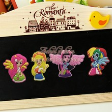 100PCS My little Ponies Cartoon Blackboard Magnetic Stick,Mini Fridge Magnets,Party Gifts/Favors Office School Supplies Bags(China (Mainland))