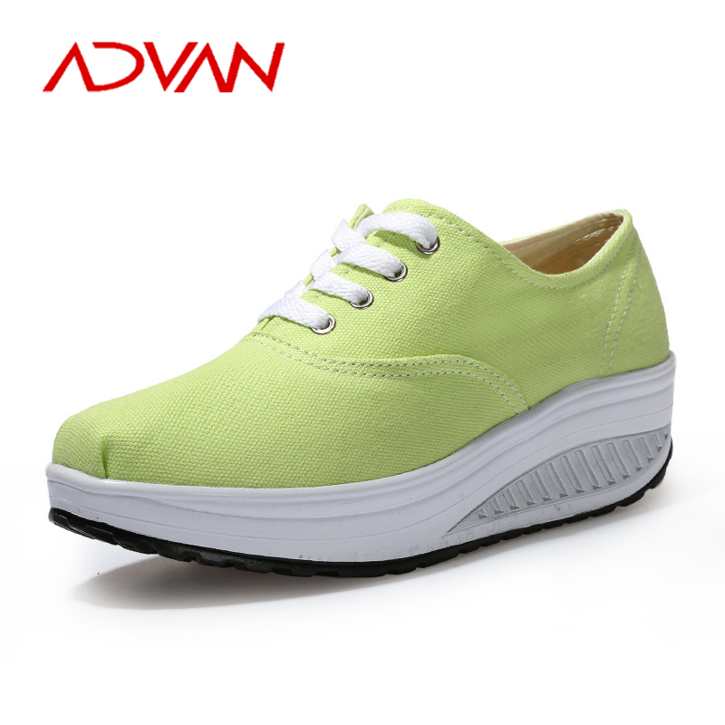 8 Color New Fashion Casual Canvas Platform Women Slim Shoes Fitness Lady Swing Shoes Summer Top Quality Chaussure Femme<br><br>Aliexpress