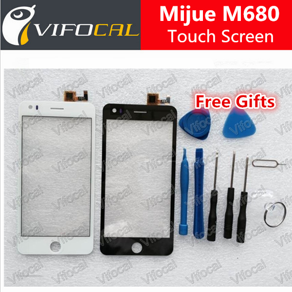 Mijue M680 touch screen + Tools Set 100% Original Digitizer glass panel for M680 960x540 5.0 inch phone Assembly Replacement