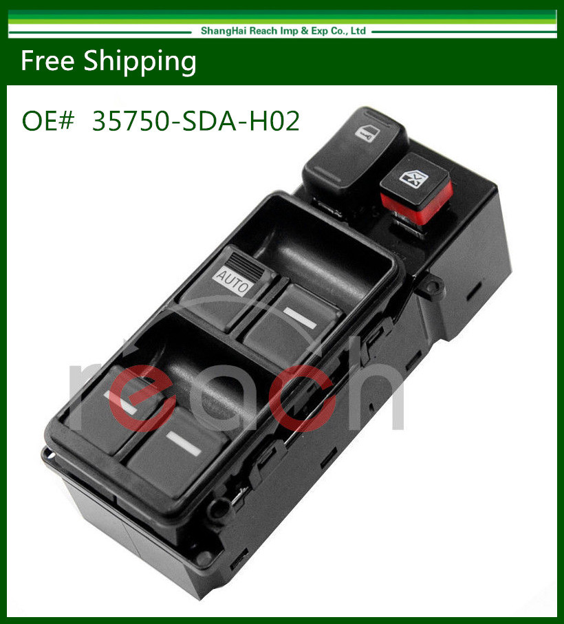 New Electric Master Power Window Switch For Honda Accord 2003-2007 35750-SDA-H02 35750-SDA-H07(China (Mainland))