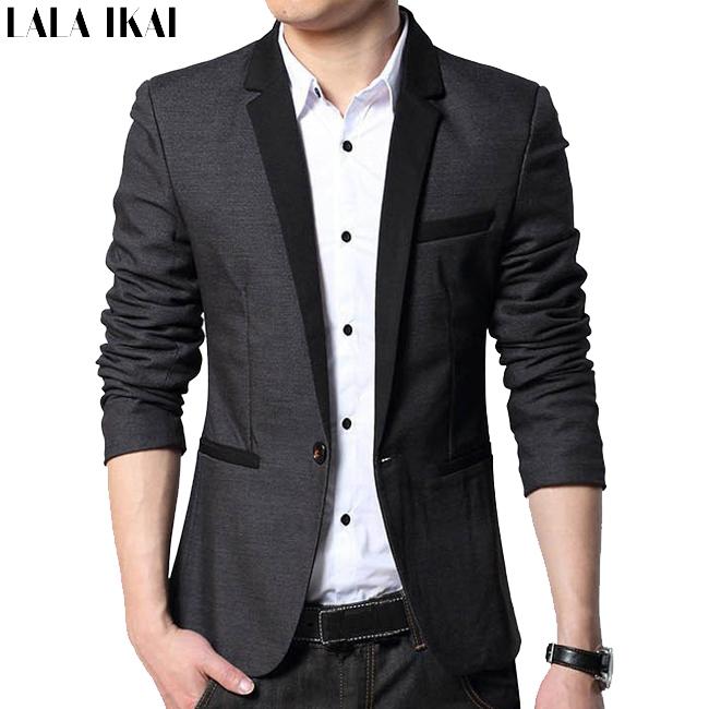 Male Blazer Men Suits Jackets Casual Slim Fit XXXL Black Leisure Coats Business Mens Blazers Suit 2015 New Arrival Brand XZN001(China (Mainland))