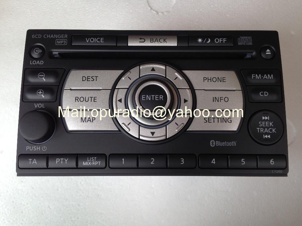 28185 JG41A clarion PN-2874T-A Xanavi CD6K-1450E X-Trail T31 6 CD changer MP3 Bluetooth car radio 2008(China (Mainland))