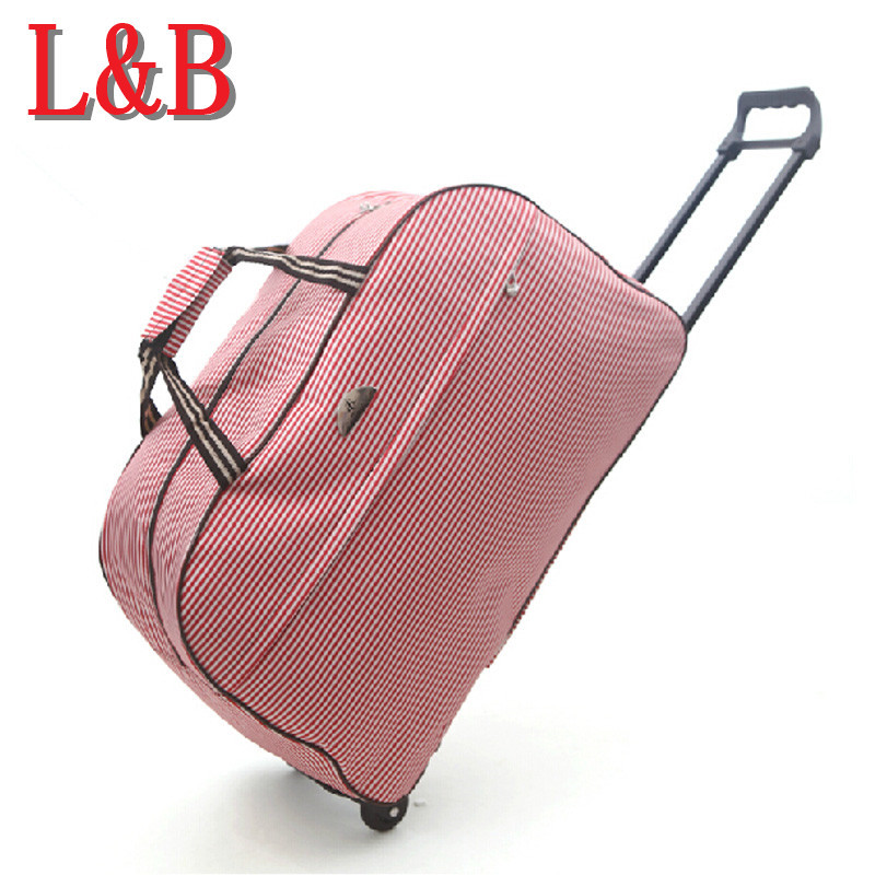 High Quality Rolling Luggage Trolley Bag Women Travel Bag Metal Hand Trolley Female&male bag Large Capacity Travel Suitcase Sac(China (Mainland))