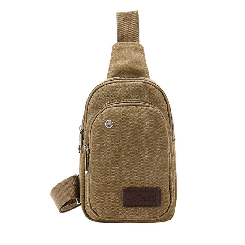 New Design Canvas Mens Chest Shoulder Bag Bags For Man Outdoor Sports Messenger Bags Travel Crossbody Sling Bag(China (Mainland))