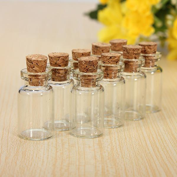 Hot 30pcs Cute Mini Messages Wishing Glass Bottle Vials Charms Pendants Clear Transparent Bottles Cork 23mm*13mm(China (Mainland))