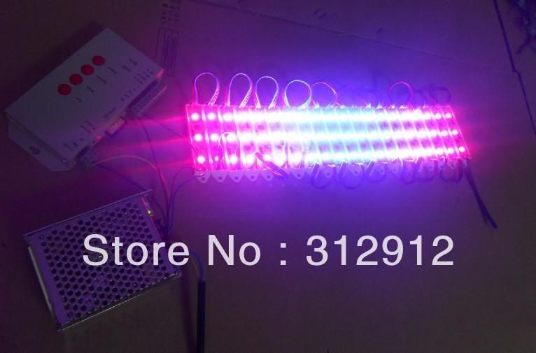 Фотография 60pcs 12V WS2811 SMD pixel module+T-1000S sd card controller+12V/60W power supply