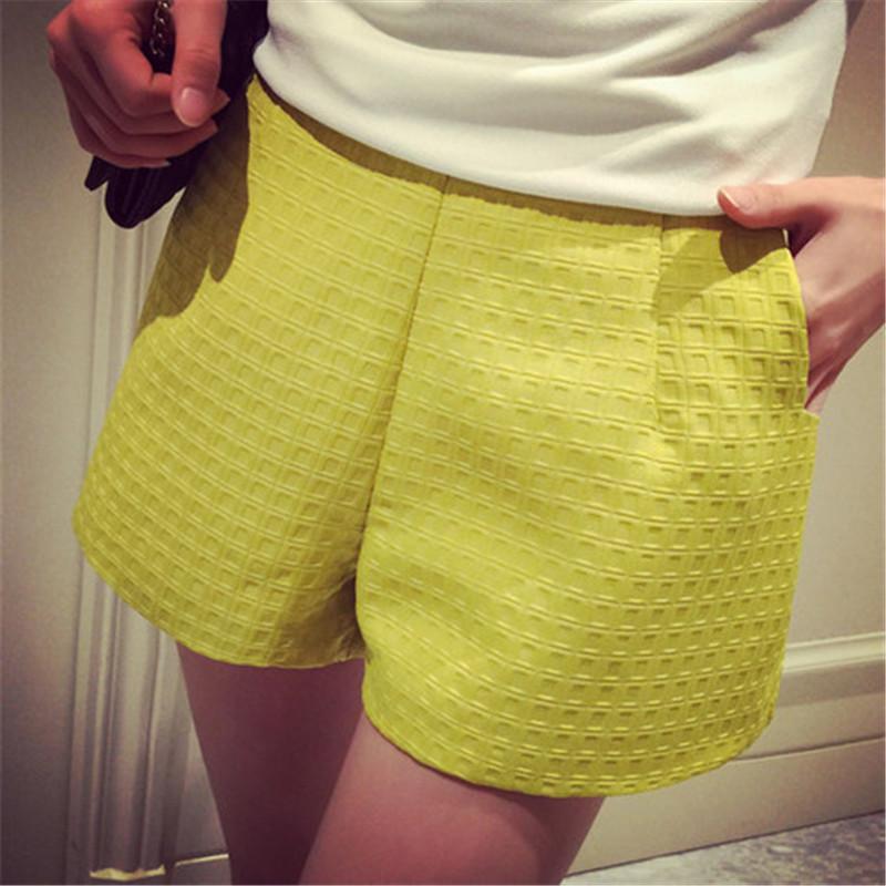 YONO Brand New Fashion Women Shorts Summer Loose High Waist Casual Soild Color Wide Leg Grid Women Shorts Plus Size Hot 4XL(China (Mainland))