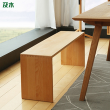Nordic minimalist furniture and wood beech wood Benches bench full restaurant meal stool bench YZ037(China (Mainland))