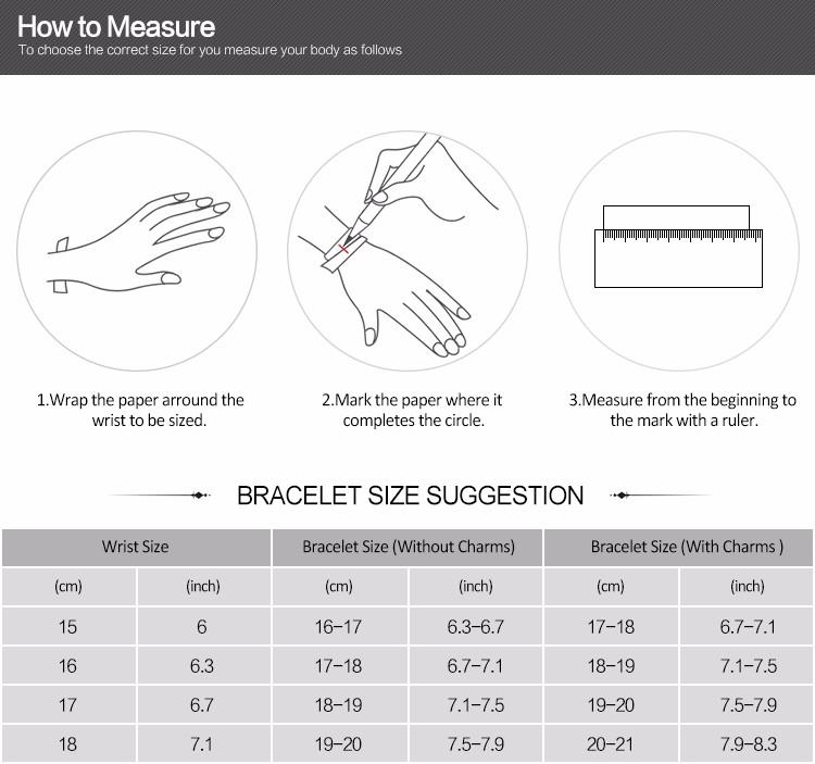 Pandora bracelet measure