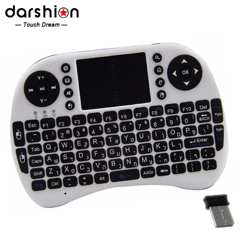 HEBREW keyboard Mini keyboard for PAD and mobile phone wireless USB 2.4G keyboard lithium battery(China (Mainland))