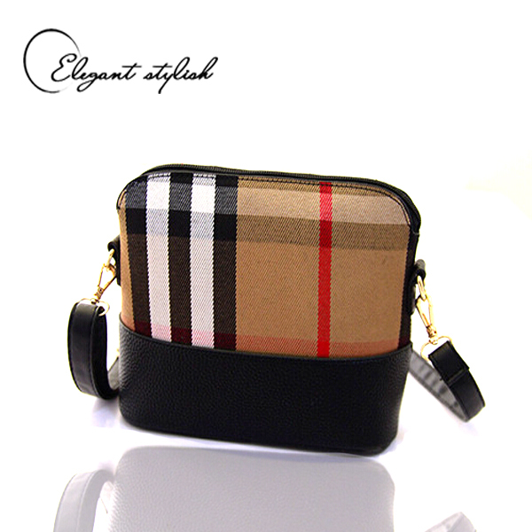 2015 new arrival single zipper women messenger bags elegant women bag design pu leather + plaid shoulder bags(China (Mainland))