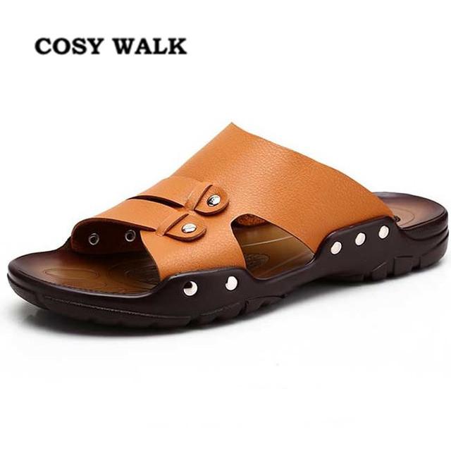 2016 лето мода мужская скольжению полу-тапочки мужские свободного покроя сандалии ...