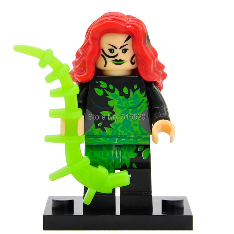 Wholesale Poison Ivy Minifigures Building Blocks 50pcs/lot DC Super Heroes Superhero Sets Models Mini Figures Bricks Toys(China (Mainland))