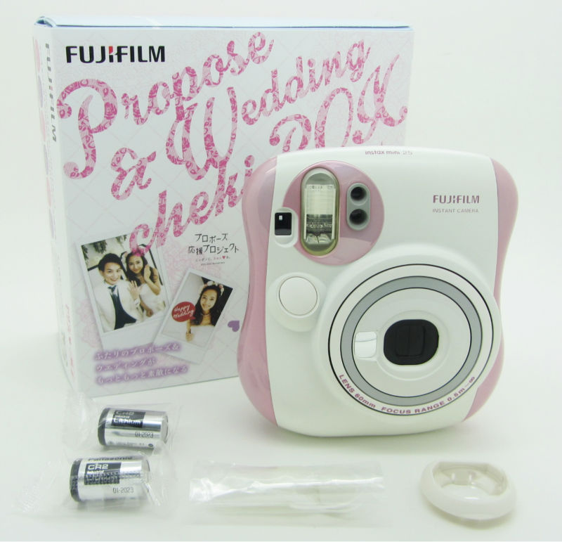 2015 New arrival Fujifilm Instax Mini 25 Wedding Box Pink Special Fuji Limited Instant Camera Free shipping(China (Mainland))