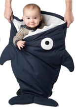 Promotion! Cartoon Shark multifunctional baby sleeping bag baby kicking preventing bag best quality sleep bag baby carriage bag
