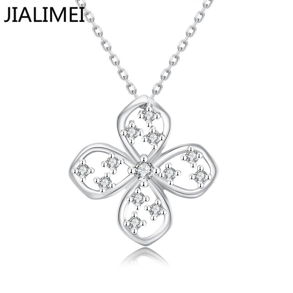 Hot Sell 18K Real Gold/Gold Plated Necklaces Pendants with High Quality Cubic Zircon For Women Birthday Gift N026-C(China (Mainland))