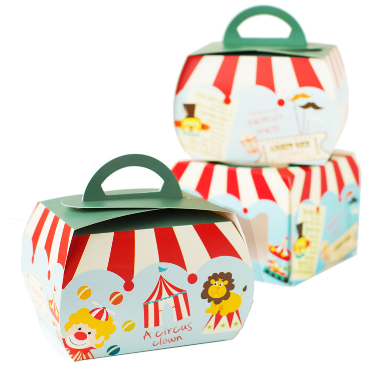 Mini Handheld Cake Boxes Paper Boxes and Gift Packaging Food Packaging Cookie Cheese Cake Paper Box With Handle(China (Mainland))