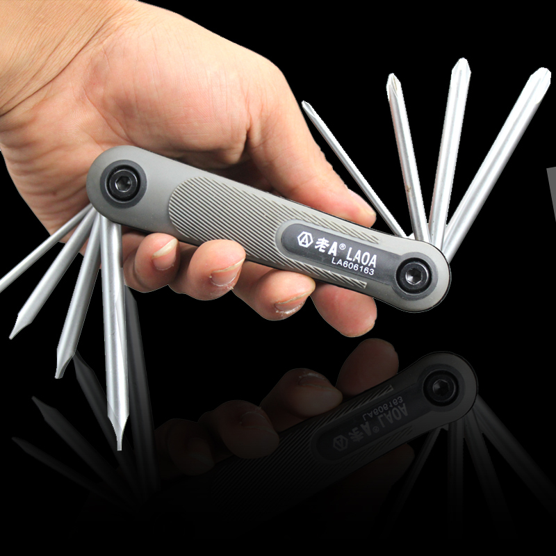 Здесь можно купить  Old A new 8-in-1 Folding Portable Phillips screwdriver flat head screwdriver multifunction screwdriver combination  Инструменты