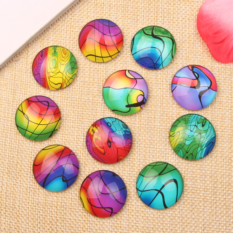 Mixed Round Stained Glass Photo cameo Cabochon 10mm 12mm 14mm 16mm 18mm 20mm 25mm for earrings Necklace(China (Mainland))