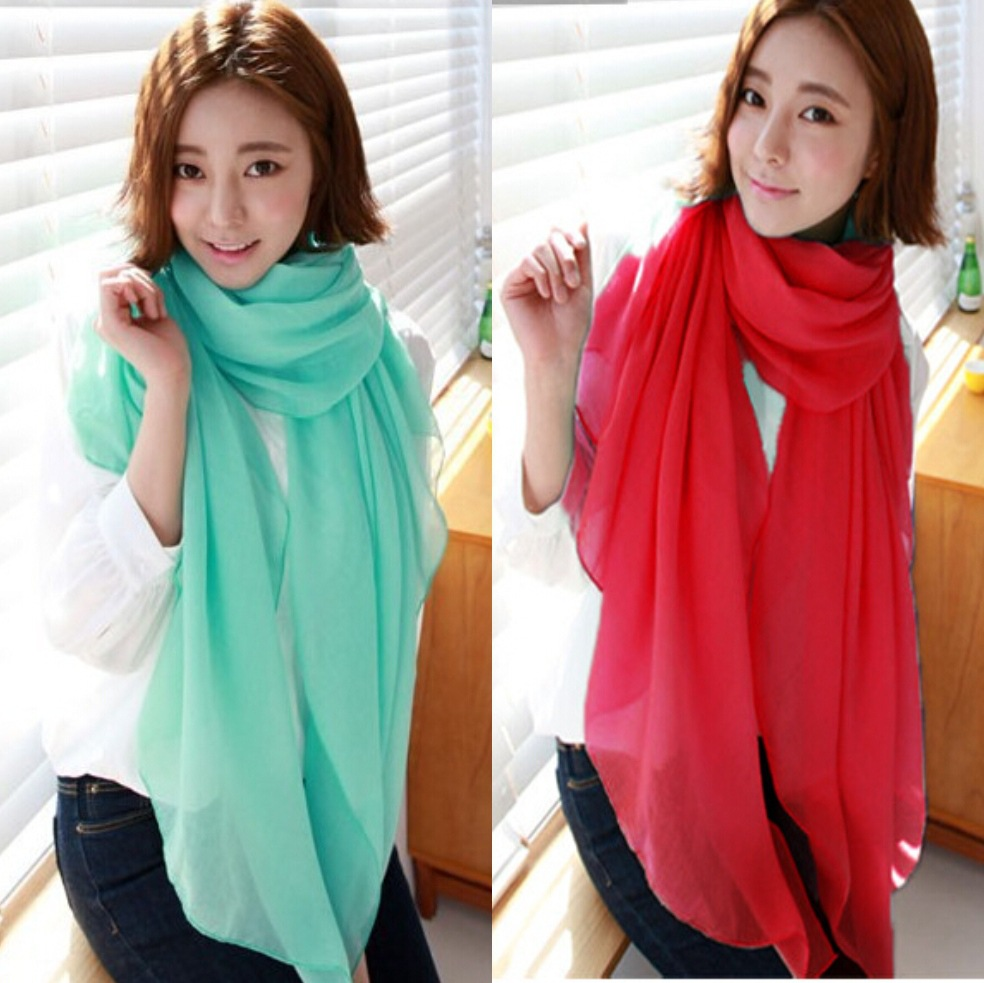 Women's Scarf 2016 Luxurious Voile Scarf in Beautiful Solid Colors Fancy Shawl Scarf Ladies Scarves Summer Beach Wrap Shawls(China (Mainland))