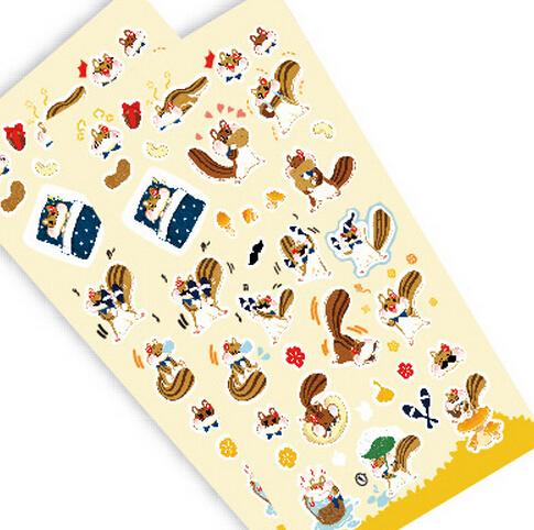 15 pcs/lot  Cute Cartoon Animal Design Decoration Sticker For School Kids Stationery Supplies(tt-4850)<br><br>Aliexpress