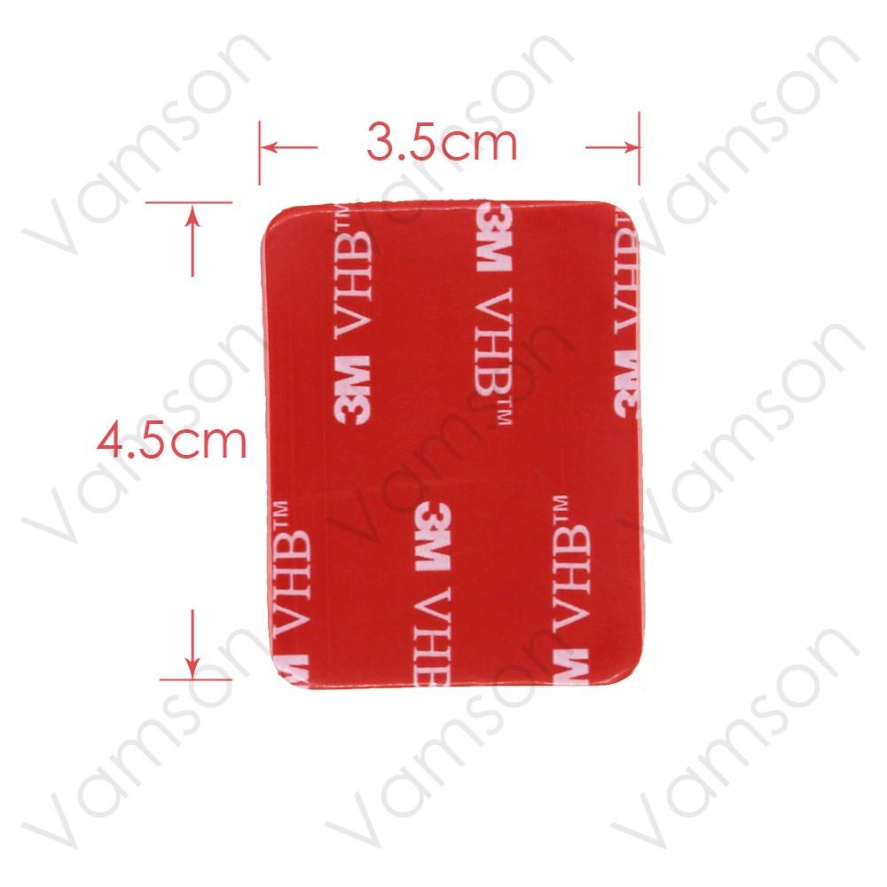 Gopro Accessories 9Pcs Red 3M Flat VHB Adhesive Sticker