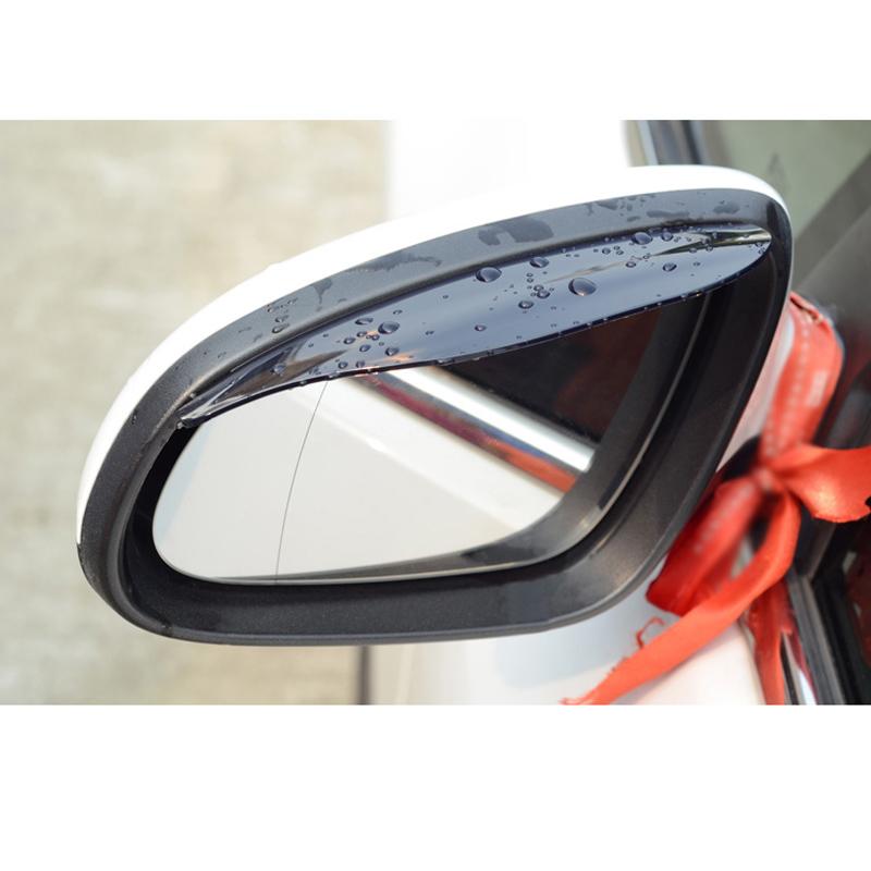 free shipping universal used plastic pvc car rearview rain shield eyebrow for fiat punto freemont panda(China (Mainland))