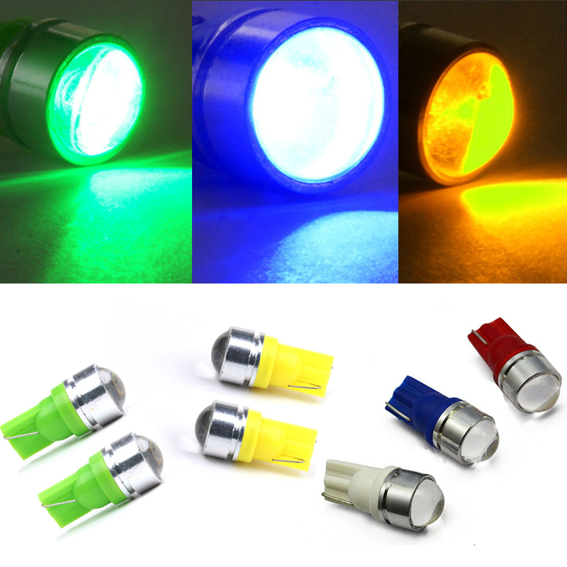 2 x T10 LED 194 168 W5W Car Side Wedge Tail white/blue/red/green/yellow Xenon LED Light Backup Bulb Lamp For Car(China (Mainland))