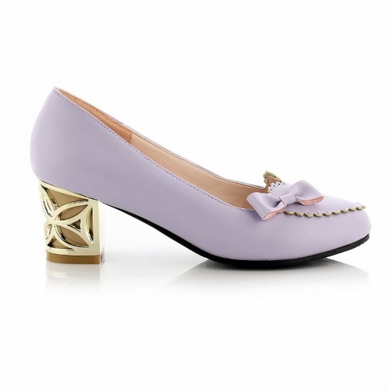 Big Size 33-43 2016 Flower Charm Cut-Outs Women Pumps Frework Med Heels Women Shoes Summer Fashion Shoes Woman Casual Shallow