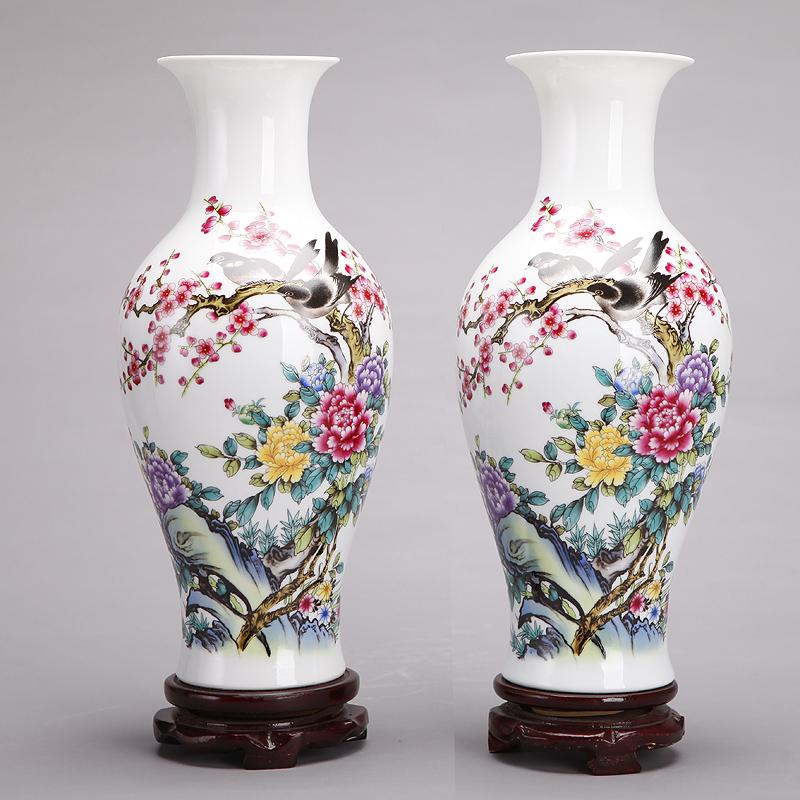 222 jingdezhen ceramic vase ornaments famille rose vase