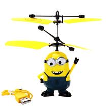2016 Hot Sale Minions RC Helicopter Movie Character Aircraft Flying Induction Kid Toys RC Plane(China (Mainland))