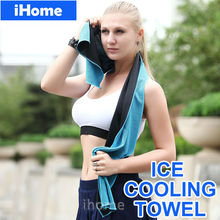 Hot Sales Microfiber Sports Cool Towel Soft Textile Ice Cold Cooling Towel Summer GYM Yoga Outdoor Climber Bike Riding Equipment(China (Mainland))