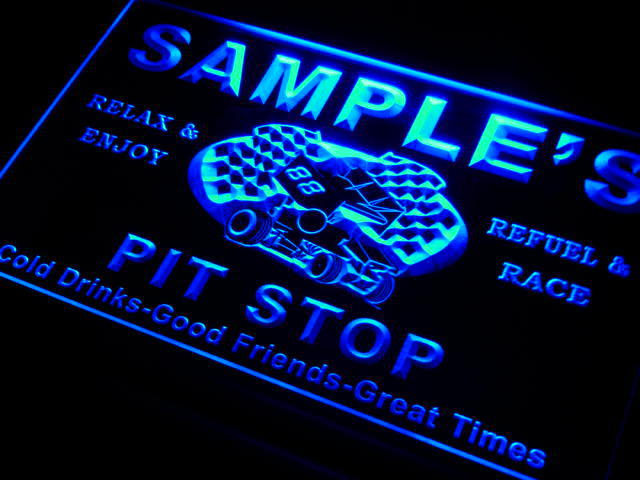 pu-tm Name Personalized Custom Pit Stop Man Cave Bar Neon Beer Sign(China (Mainland))