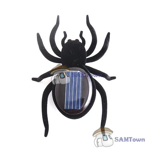 bestPrice Lowest price Educational Solar Powered Black Spider Toy Gadget Kids Festival!(China (Mainland))