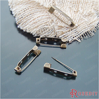 (19254-G)20PCS 25MM Antique Bronze Plated Iron Brooch Base Brooch Pins Diy Jewelry Findings Jewelry Accessories wholesale
