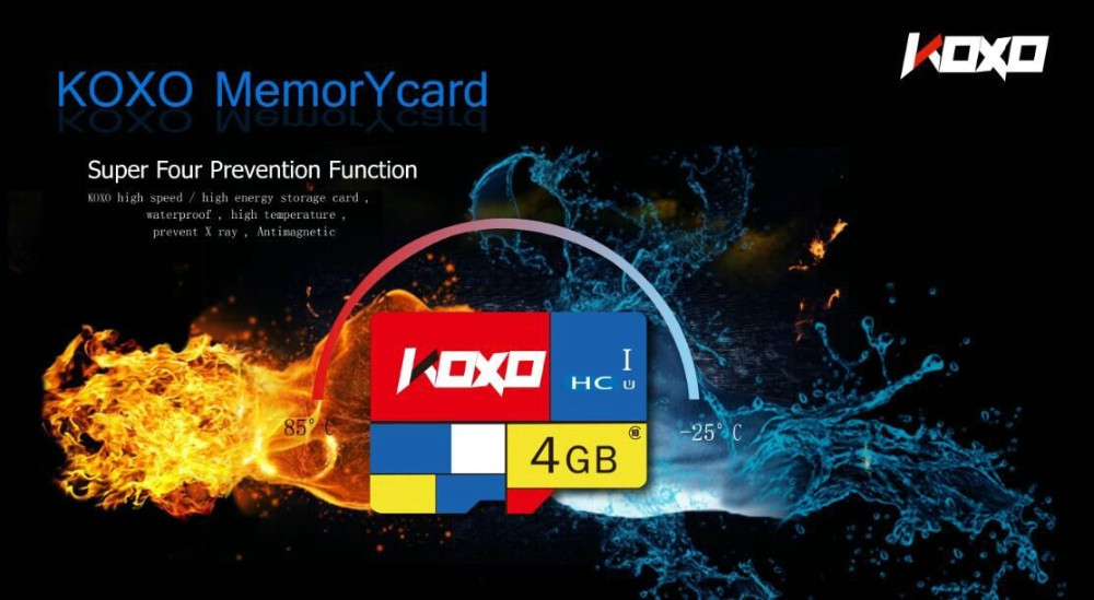KOXO memory card Real Capacity 64GB class10 300X UHS-1 micro original tf sd card flash card + free adapter for phone tablet