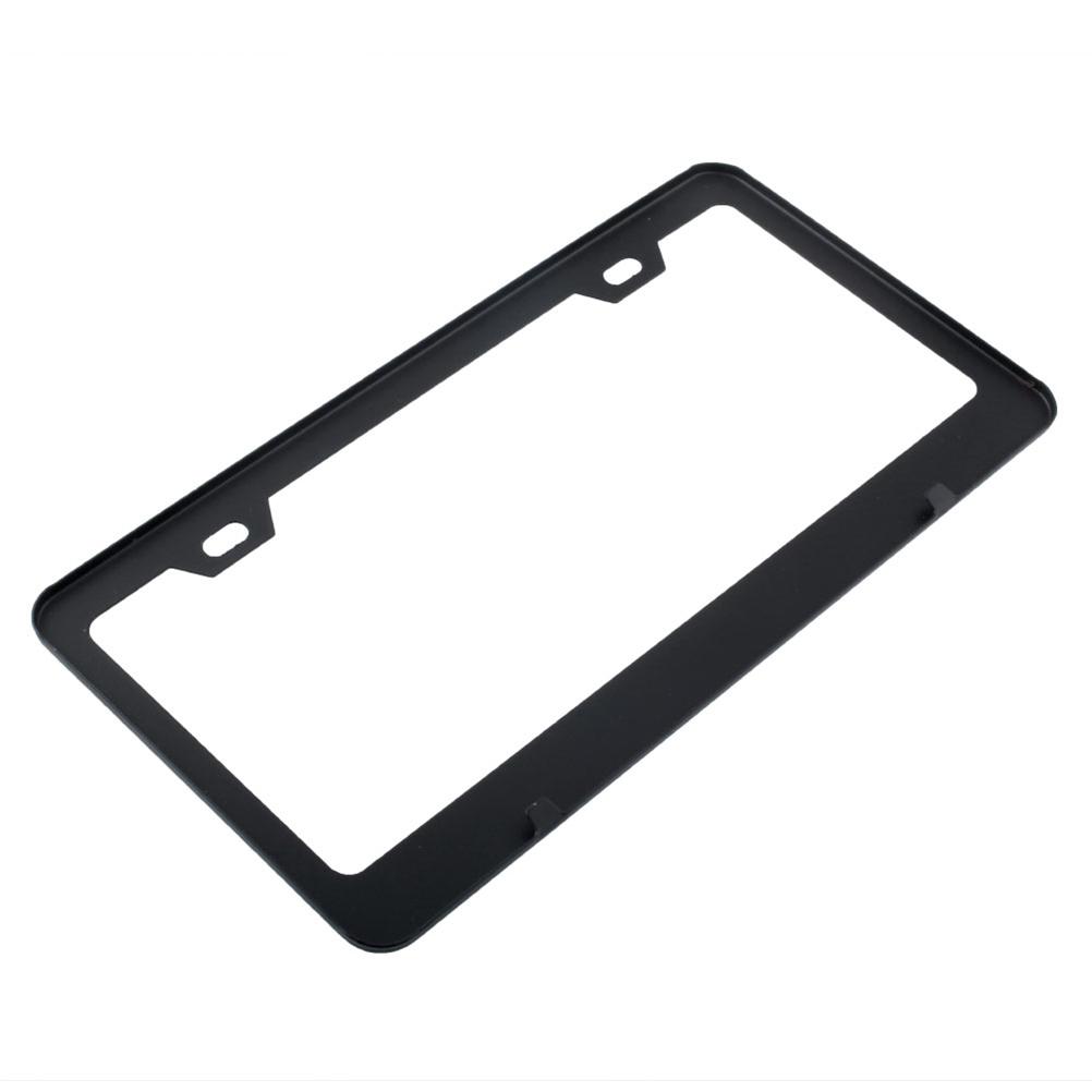 Car License Plate Frames Aluminum Plate Frame Cover Screw US Type (Black)(China (Mainland))