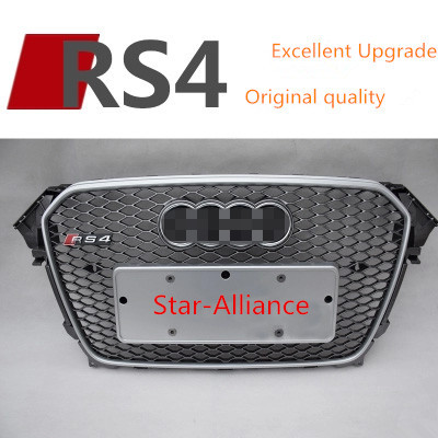 High Quality ABS Front Car Grill For Audi A4 Upgrade to RS4 Fits For Audi A4 RS4 13-15(China (Mainland))