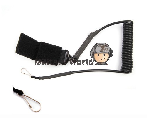 Airsoft Tactical Single Point Pistol Handgun Spring Lanyard Sling Quick Release Shooting Hunting Army Combat Gear